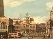Antonio Canal (Canaletto) La torre dell'Orologio in Piazza S. Marco